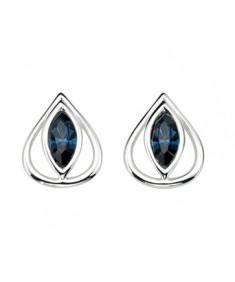 Montana Swarovski Crystal Teardrop Stud Earring