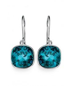 Indicolite Swarovski Crystal Drop Earring
