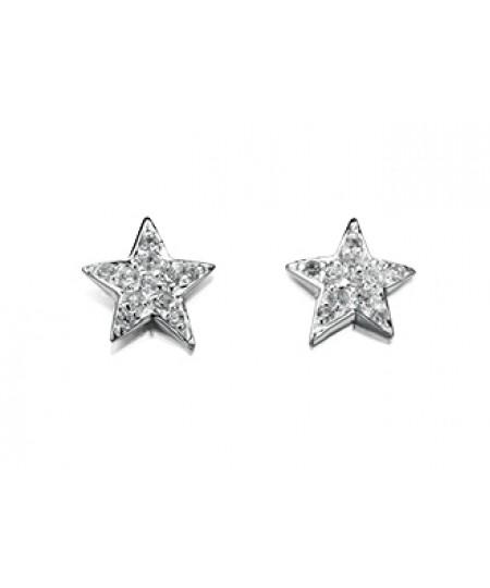 Clear CZ Star Stud Earring