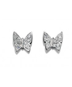 Clear CZ Butterfly Pave Earring