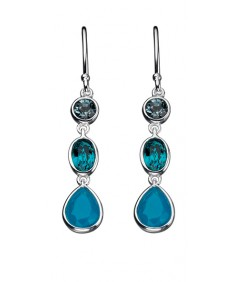 Multi Blue Swarovski Crystal/Opal Drop Earring