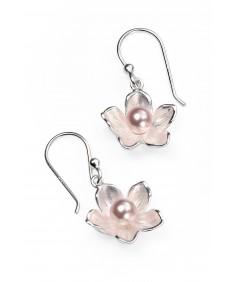 Rosaline Swarovski crystal pearl blossom flower earrings