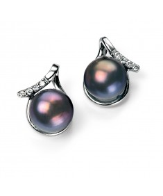 Peacock Pearl Earring with CZ