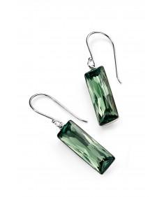 Erinite Swarovski crystal rectangle drop earrings