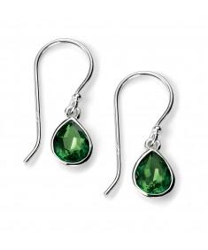 Fern Green Pear Shape Swarovski Crystal Earring