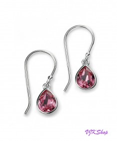Rose Swarovski crystal teardrop earrings