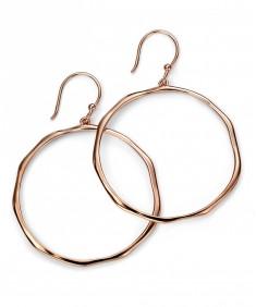 Large Rose Gold Plated Hoop Earrings