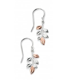 Mixed Plated Leaf Earrings
