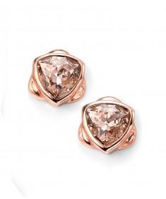 Rose Gold Plated Vintage Rose Swarovski Crystal Stud Earring