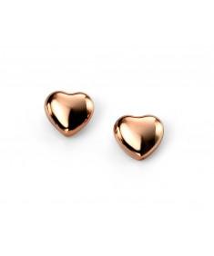 Rose Gold Plated Heart Stud Earrings