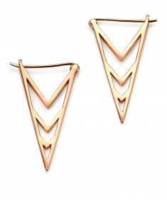 gold plated triangle earrings