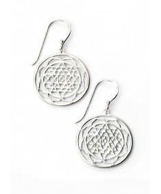 Patterned disc earrings