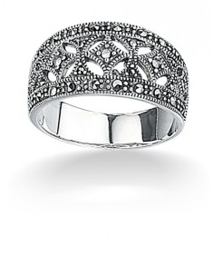 Marcasite Wide Ring