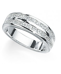 Clear CZ Double Row Ring