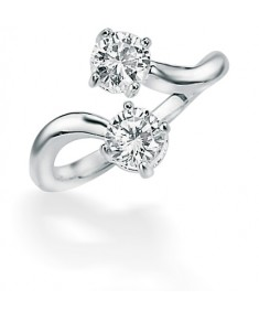 Clear CZ Double Twist Ring