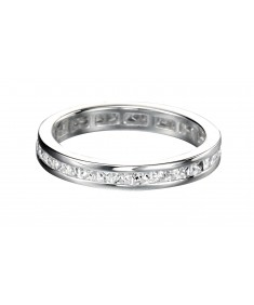 Clear CZ 2.5mm Square Channel Ring