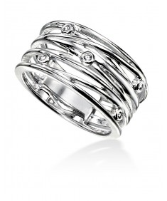 Clear CZ Wrapped Wire Style Ring