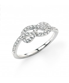 Clear CZ Infinity Ring