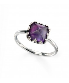 amethyst cushion cut ring