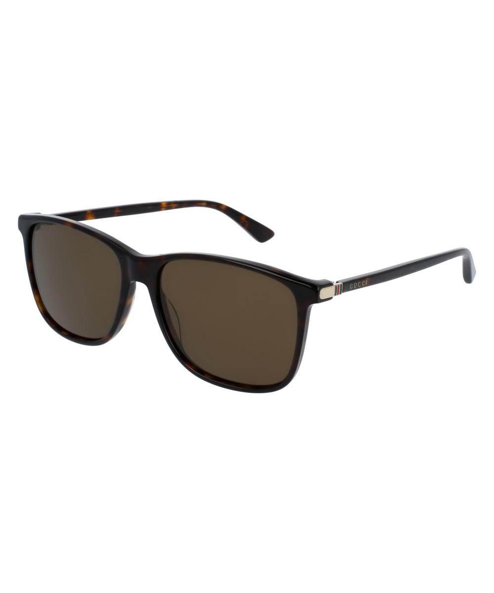 d9872d3bb1 Gucci Square-frame Acetate Sunglasses GG0017S 002 57