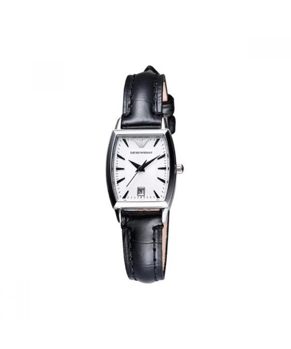 84e544f9f66ed Emporio Armani Women's Black Leather Watch AR0941