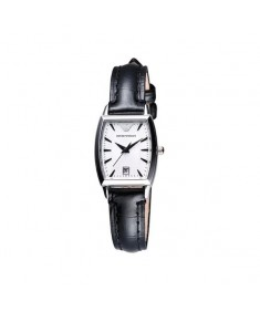 Emporio Armani Women's Black Leather Watch AR0941